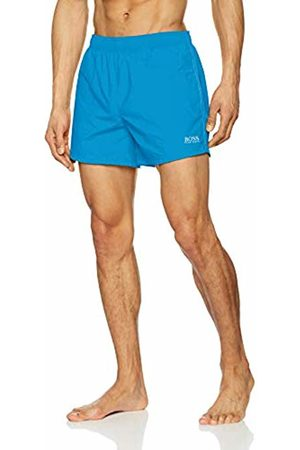 HUGO BOSS Men's Perch Swim Trunks, (Turquoise/Aqua 441)