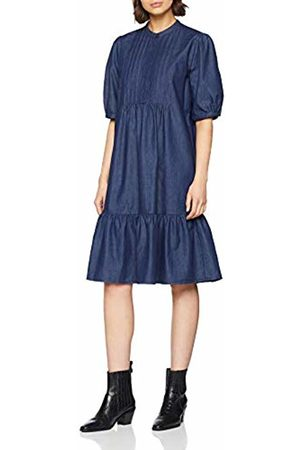 Seidensticker Women's Kleid Kurzarm Modern Fit Denim Uni Dress