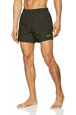 HUGO BOSS Men's Perch Swim Trunks, (Dark 302)