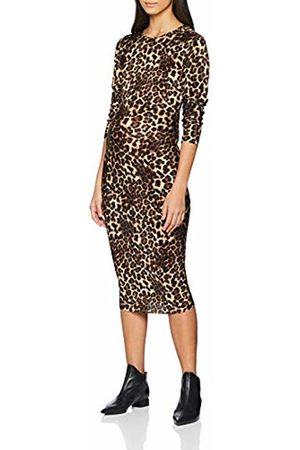 New Look Maternity Women's Animal Plisse 6114466 Dress