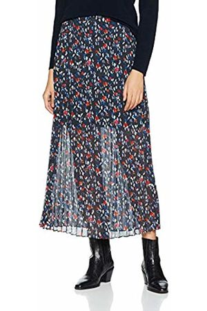 Lost Ink Women's Midaxi Skirt in Pleat with Floral Print (Multi 0004)
