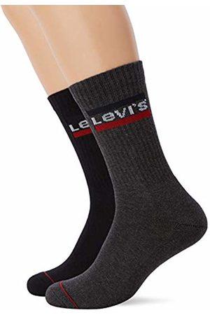 Levi's Men's 120sf Regular Cut Sprtswr Logo 2p Calf Socks)