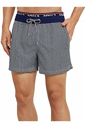 Schiesser Men's Aqua Beach Shorts (Admiral 801)