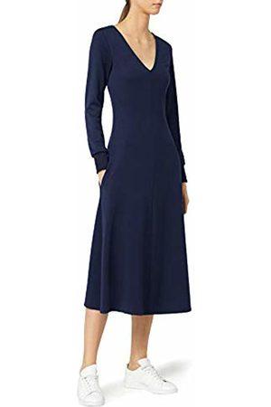 MERAKI Women's Midweight Jersey A-Line Midi Dress