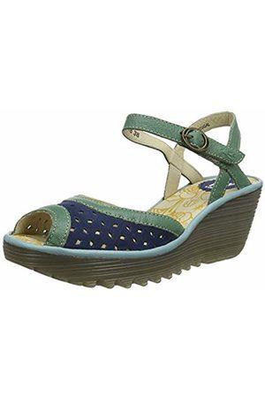 Fly London Women's YUMO027FLY Open Toe Sandals, Jade /Pale 009
