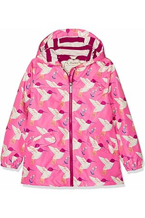 Hatley Girl's Microfiber Rain Jackets Raincoat, (Graceful Hummingbirds)