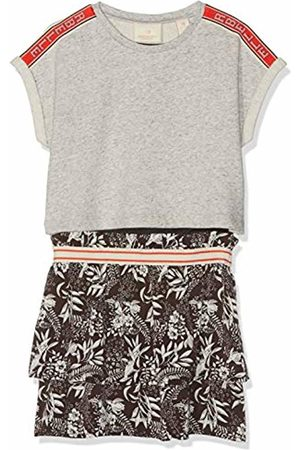 Scotch&Soda R´Belle Girl's 2-in-1 Sweat Dress with Allover Printed Woven Skirt