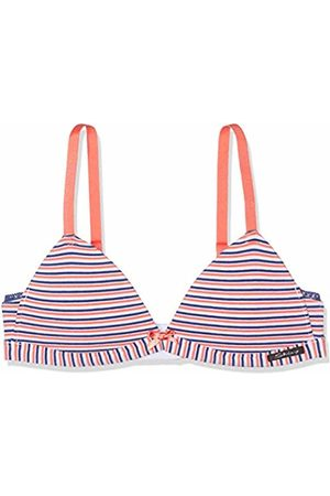Skiny Sporty Stripes Girls Triangel Gepaddet Bustier, (Coral 2156)