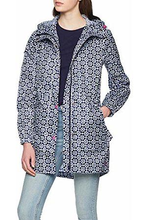 Joules Women's Golightly Rain Jacket, Navy Geo