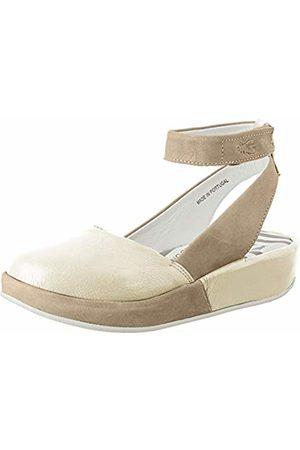 Fly London Women's BOKE987FLY Ankle Strap Ballet Flats