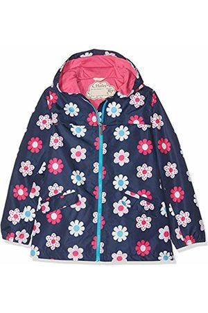 Hatley Girl's Microfiber Rain Jackets Raincoat, (Spring Flowers)