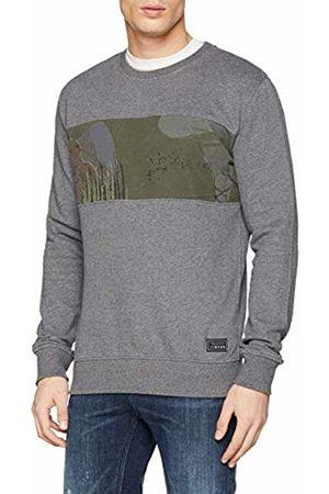 s.Oliver Men Sweatshirts - Men's 40.902.41.8281 Sweatshirt Grau (Dark Melange 9730) L