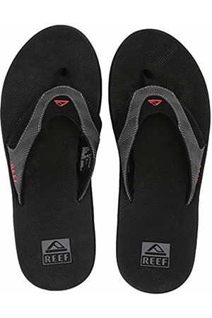 Reef Men's Fanning Prints Flip Flops, ( Plaid/Bla Gpc)
