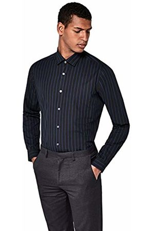 T-Shirts Men's Striped Cotton Regular Fit Shirt