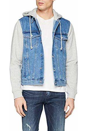 New Look Men's Denim Jersey Jacket, ( 46)
