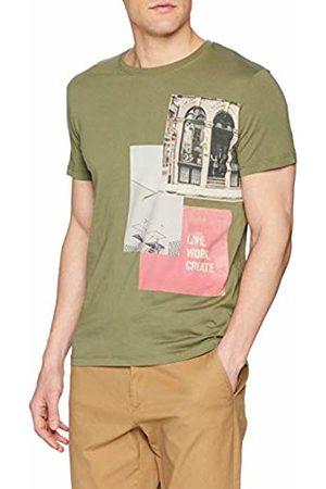 Esprit Men's 029EE2K024 T-Shirt, (Khaki 350)