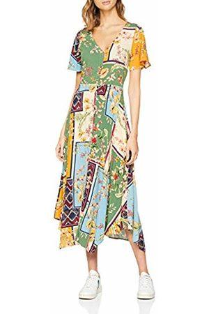 Springfield Women's Frq.Vestido Midi Patch Dress