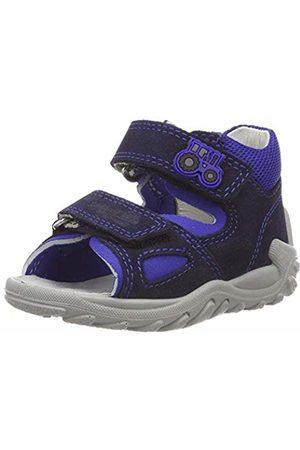Superfit Baby Girls' Flow Open Toe Sandals, Blau 80