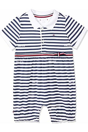 Tommy Hilfiger Baby Girl Stripe Shortall S/s Footies
