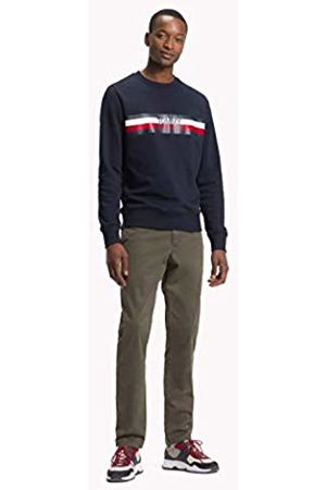 Tommy Hilfiger Men's Tommy Logo Sweatshirt (Sky Captain 403)