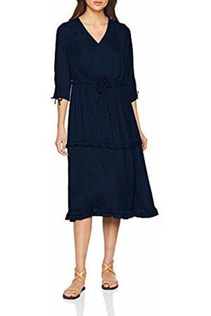Scotch&Soda Maison Women's Midi Length Dress with V-Neck and Ruffles (Night 02)