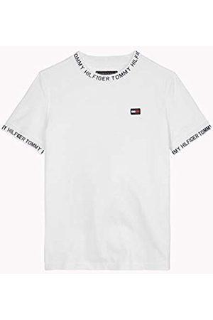 Tommy Hilfiger Boy's Printed Rib Tee S/s T-Shirt, (Bright 123)