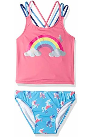 Hatley Girl's Sporty Tankini Sets, (Multicoloured Rainbow Unicorns)