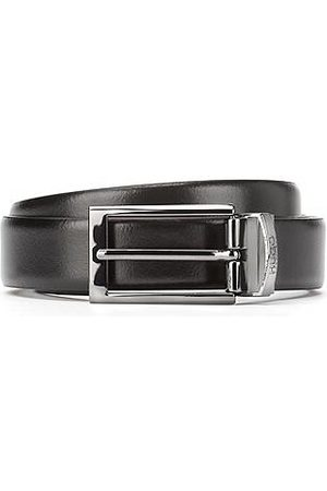 HUGO BOSS Men Belts - Smooth leather reversible belt with gunmetal hardware