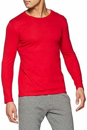 Trigema Men's Herren Langarm-Shirt Pyjama Bottoms, -Rot (Kirsch 036)