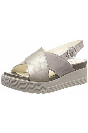 Stonefly Women's Parky 4 Velour/Laminated Ankle Strap Sandals