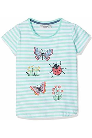 Salt & Pepper Salt and Pepper Girls' T-Shirt Friend uni Stripe Grün (Fresh Melange 623)