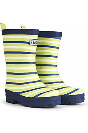 Hatley Boys' Printed Wellington Rain Boots (Lime Stripes Matt 100)