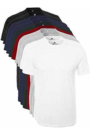 Lower East Men's T-Shirt Roundneck, Pack of 10 ( / / Navy / Gray / / )