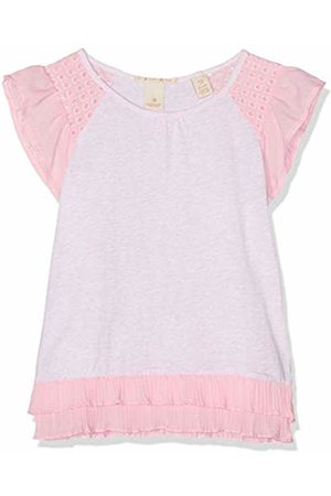 Scotch&Soda R´Belle Girl's Jersey Woven Mixed Tee with Pleated Hem Sports Tank Top (Flamingo Melange 2070) 116 (Size: 6)