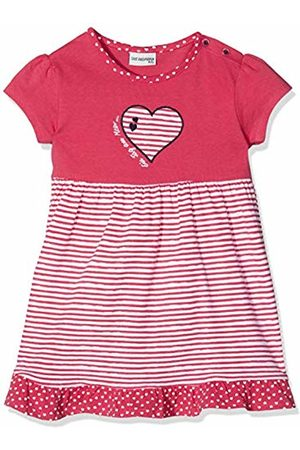 Salt & Pepper Salt and Pepper Baby Girls' B Dress Meer Stripe Herz Rot (Hibiscus 360) 12-18 Months