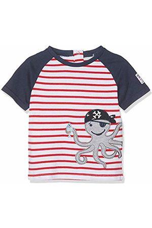 Salt & Pepper Salt and Pepper Baby Boys' B T-Shirt Pirat Stripe Krake Rot ( 358)