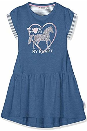 Salt & Pepper Salt and Pepper Girls' Dress Horses uni Blau (Jeans Melange 487)