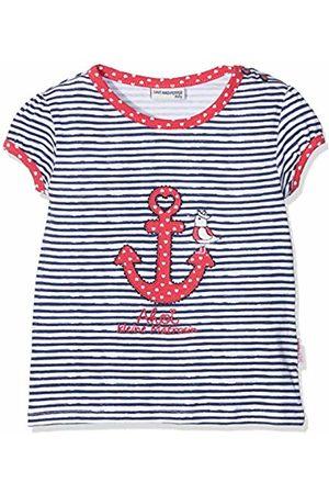 Salt & Pepper Salt and Pepper Baby Girls' B T-Shirt Meer Stripe Anker Blau (Navy 455)