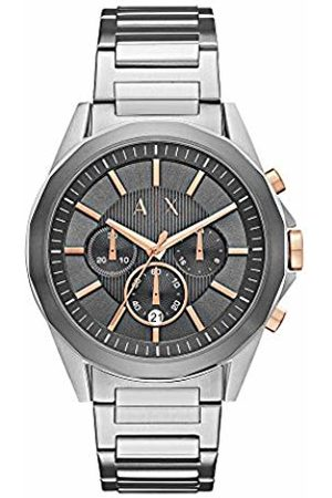 Armani Mens Chronograph Quartz Watch with Stainless Steel Strap AX2606
