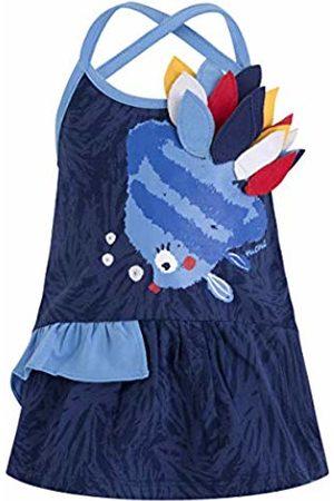 Tuc Tuc Girl's Vestido Punto Pez Niña Arrecife de Coral Dress, ( 16)