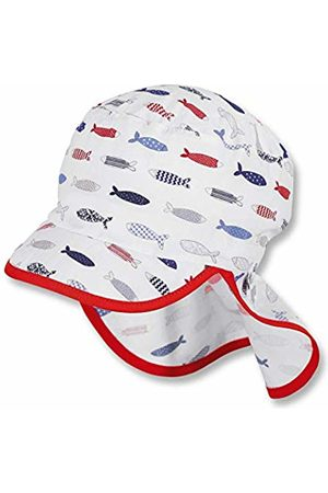Sterntaler Baby Boys' Cap with Visor and Neck Protection (Weiss 500)