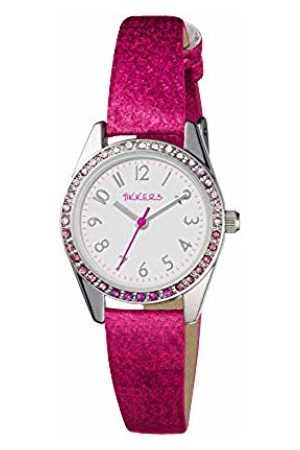 Tikkers Girl's Analogue Quartz Watch with Imitation Leather Strap TK0123