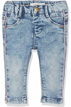 Name it Baby Girls' Nbfsalli Dnmtia 2158 Pant Noos Trouser, Medium Denim