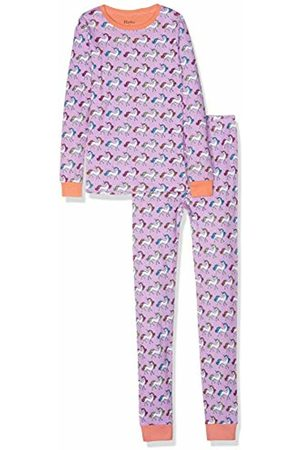 Hatley Girl's Organic Cotton Long Sleeve Printed Pyjama Sets (Multicoloured Rainbow Unicorns)