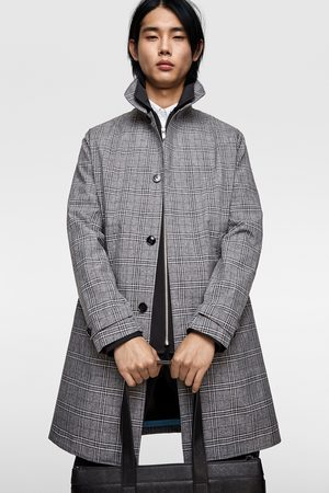 Zara Check traveller trench coat