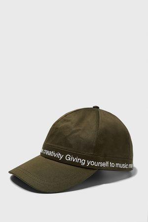 Zara Cap with contrast slogan