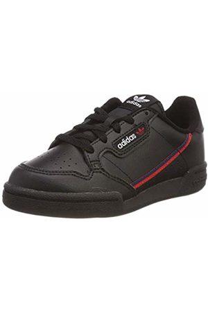 adidas Unisex Kids' Continental 80 C Gymnastics Shoes, Nero Core /Scarlet/Collegiate Navy