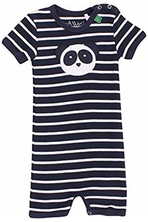 Green Cotton Baby Boys' Panda Stripe Beach Body. Bodysuit