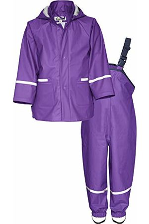 Playshoes Baby Girls' Regenanzug, Regen-Set Basic Rain Jacket