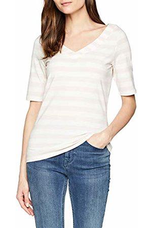 Comma, Women's 81.903.32.3381 T-Shirt, Mehrfarbig Streifen Bordüre 40g2